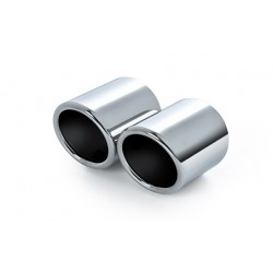 Chrome exhaust tips