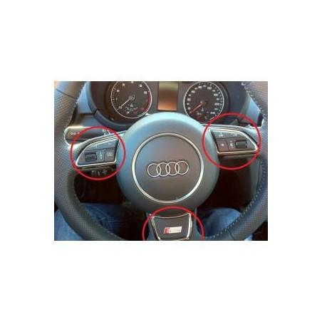 Insert de volant chromé Audi A1