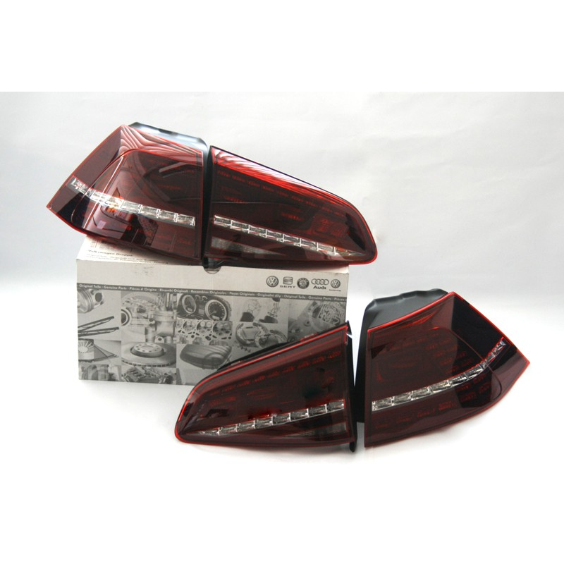 led taillights vw golf 7 r dark red 5g1052200. Black Bedroom Furniture Sets. Home Design Ideas
