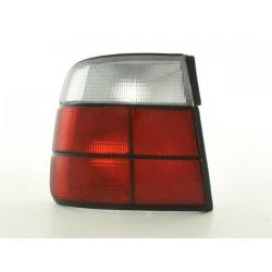 Feux arrieres pour BMW Série 5 Limo (type E34) An 88-94, blanc/rouge
