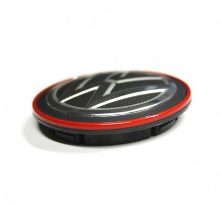 Cache moyeu GTI noir et rouge d'origine VW - 5G0601171BLYC