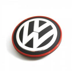 Cache moyeu noir et rouge d'origine VW Volkswagen