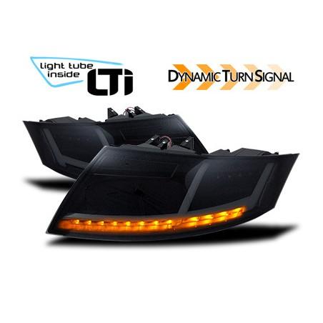 Feux arrière LTI Audi TT (8J) noir avec clignotant dynamique