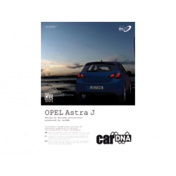 carDNA OPEL Astra J Einleger für Präsentationsmappe A4