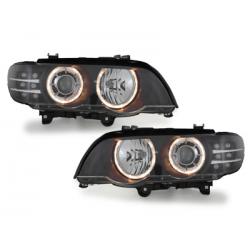 Phares BMW X5 00-03 E53 - LED-Blinker-Noir_HID