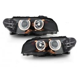 **Phares BMW E46 Coupé 03-06-2 Angel Eyes - HID _LED-Blinker - Noir