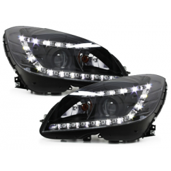 *Phares Mercedes Benz W204 C-Klasse 06-10 _XENON_Noir