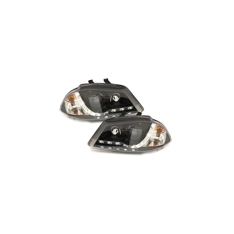 phares avec feux de jour seat ibiza 6l 03 08 noir swsi05agxb. Black Bedroom Furniture Sets. Home Design Ideas
