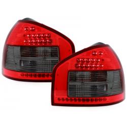 Feux arrière LED Audi A3 8L 96-00_Rouge/Fumé