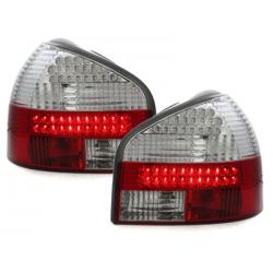 Feux arrière LED Audi A3 8L 09.96-04-Rouge/Cristal