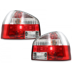 Feux arrière Audi A3 8L 09.96-04 - Rouge/chromé