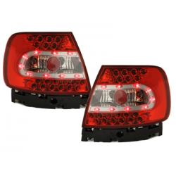 Feux arrière LED Audi A4 B5 Lim. 95-01-Rouge/Cristal