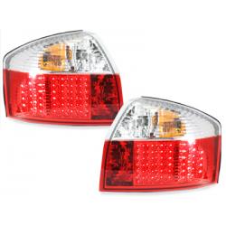 Feux arrière LED Audi A4 8E Lim. 01-04-Rouge/Cristal