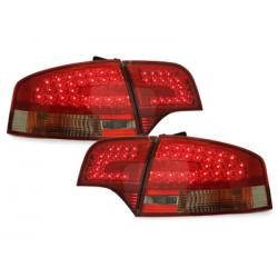 Feux arrière LED Audi A4 B7 Lim. 04-08-Rouge/Fumé