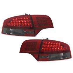 Feux arrière LED Audi A4 B7 Limousine 04-08-Rouge/Fumé