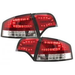 Feux arrière LED Audi A4 B7 Lim.04-08_clignotant LED_Rouge/cryst.
