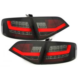 Feux arrière LED Audi A4 B8 8K Lim. 07-10-Noir/Fumé