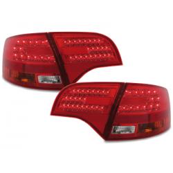 Feux arrière LED Audi A4 Avant B7 04-08-Rouge/clair