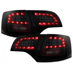 Feux arrière LITEC LED Audi A4 Avant B7 04-08-Noir/Fumé