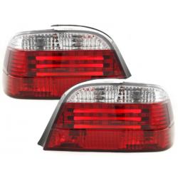 Feux arrière LED BMW E38 95-02-Rouge/Cristal