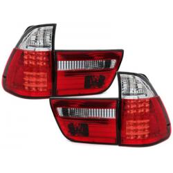 Feux arrière LED BMW X5 00-02-Rouge/Cristal