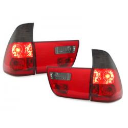 Feux arrière BMW X5 00-02-4-Portes-Rouge/Fumé