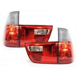 Feux arrière BMW X5 00-02-4-Portes-Rouge/Cristal