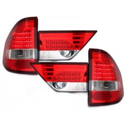 Feux arrière LED BMW E83 X3 04-06 - Rouge/Cristal