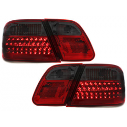 Feux arrière LED Mercedes Benz W210 E-Kl. 95-02-Rouge/Fumé