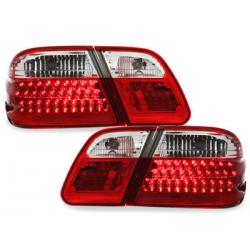 Feux arrière LED Mercedes Benz W210 E-Kl. 95-02-Rouge/crysta