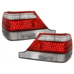 Feux arrière LED Mercedes Benz W140 S-Kl 97-99-Rouge/Cristal