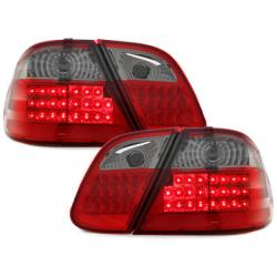 Feux arrière LED Mercedes Benz CLK C208 06.97-02-Rouge/Fumé