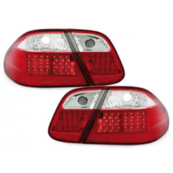 Feux arrière LED Mercedes B. CLK C208 06.97-02-Rouge/Cristal