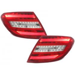 Feux arrière LED Mercedes Benz C W204 06-10_Rouge/crys