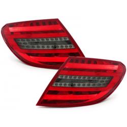 Feux arrière LED Mercedes Benz C W204 06-10_Rouge/Fumé