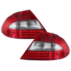 Feux arrière LED Mercedes Benz CLK W209 05-10 Rouge/Cristal