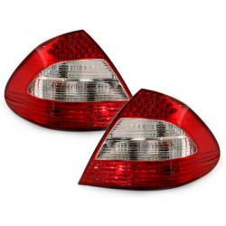 Feux arrière LED Mercedes Benz E W211 Limousine_Rouge/Cristal