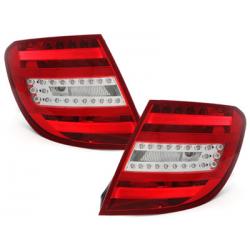 Feux arrière LED Mercedes Benz C-Klasse W204 T-Modell 06-10_Rouge/crys