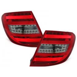 Feux arrière LED Mercedes Benz C-Klasse W204 T-Modell 06-10_Rouge/Fumé