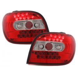 Feux arrière LED Toyota Yaris 98-03-Rouge/Cristal