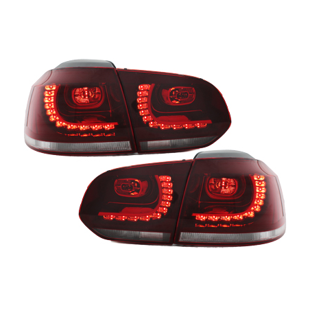 Feux LED rouge clair CAN-BUS Golf 6 Gti R-line - RV39ADLRC