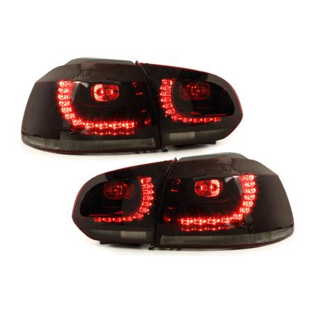 Feux LED rouge fumé CAN-BUS Golf 6 Gti R-line - RV39ADLRS