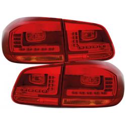 Feux arrière LED Vw Tiguan 2011 à 2016 - Rouge clair
