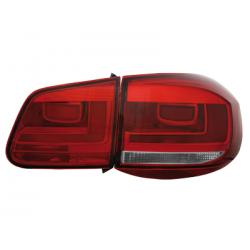 Feux arrière LED VW Tiguan 2011-16 Rouge/Fumé