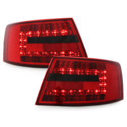 Feux arrière LED Audi A6 4F Limousine 04-08-Rouge/Fumé