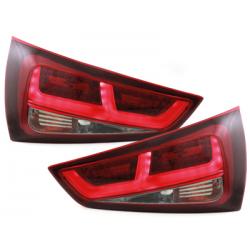 Feux arrière LED Audi A1 2011+ Rouge/Fumé
