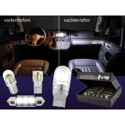 Pack LED intérieur blanc froid-Audi A3 8L_97-00