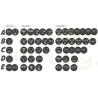 Emoticon LED + télécommande Pour lunette arriere