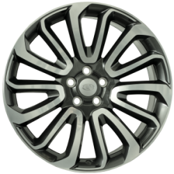 Jante Alu, Land Rover, Ikebana , 9.5x22 Pouces, 5x120, ET49, 72,6mm, Anthracite Polished