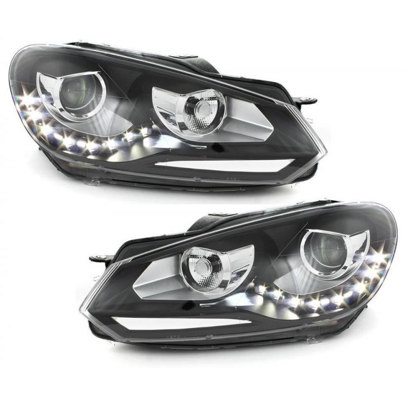 phares vw golf 6 halog ne avec feux diurne led style x non. Black Bedroom Furniture Sets. Home Design Ideas